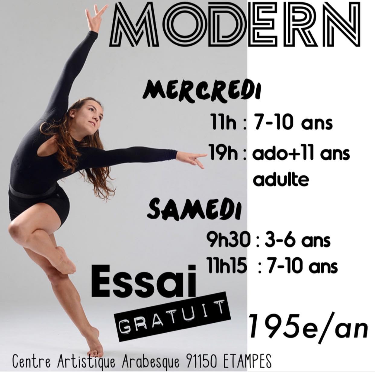 essai modern danse etampes