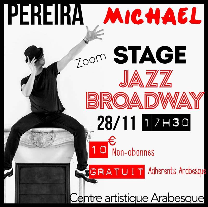 centre artistique arabesque ecole danse enfant etampes stage jazz broadway pereira michael